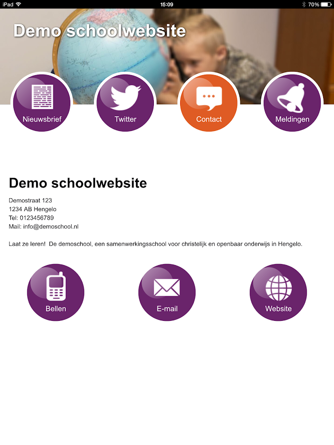 Schoolwebsite.nu- screenshot