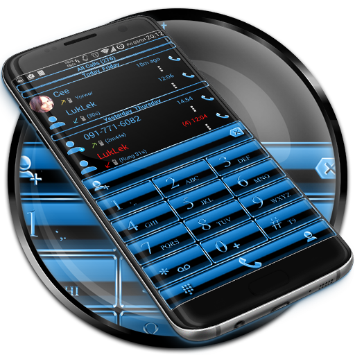 Theme x RocketDial Frame Blue app (apk) free download for Android/PC/Windows