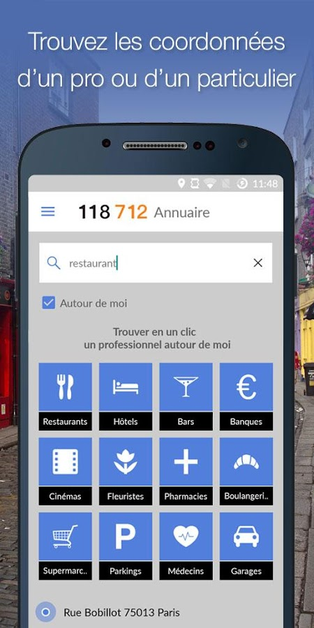 118 712 annuaire pro et local- screenshot