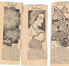 Photo: More clippings, doilies to brighten your luncheon table or favorite chair. My mom never used doilies on chairs, but some of her friends did. They weren't calling them antimacassars, just doilies.