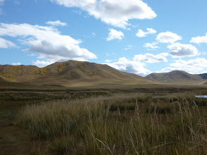 Photo: The Mongolian steppe - endless blue skies and miles and miles of nothing-ness.