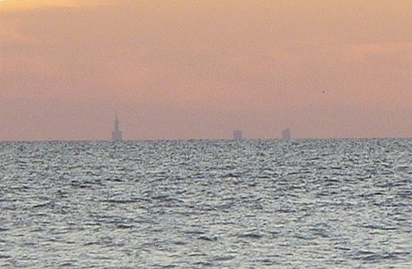 Chicago Skyline seen from New Buffalo, MI