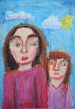 Photo: Соркова Маша. 9 лет. 2 рис. Студ. Т. Белоконенко. Израиль. г. Хайфа