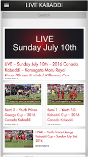 Live Kabaddi- screenshot thumbnail