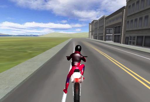 市摩托車模擬器3D