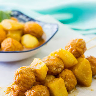 Curry Fish Balls with Radish