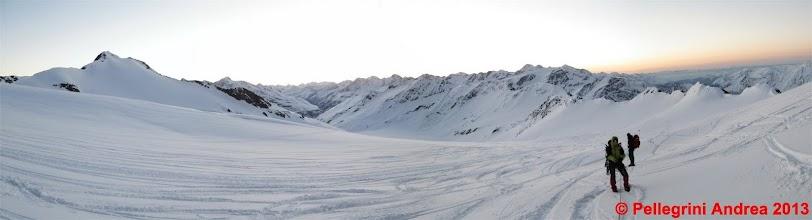 Photo: Panorama 2 alba sul ghiacciaio del Hintereisferner
