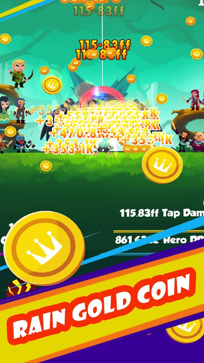 Tapping Clicker: Heroes Android 12