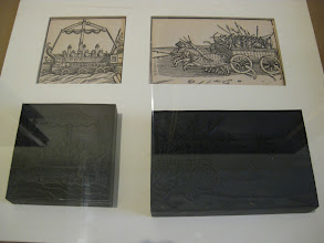 Photo: Plates and their prints.
