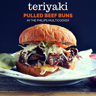 Teriyaki Pulled Beef Buns (in the Philips Multicooker).