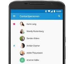 Contacten screenshot