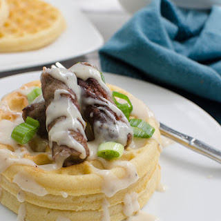 Waffles with Sausage and Maple Pepper Gravy Recipe