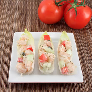 Shrimp Salad in Endive Cups (Low Carb and Gluten Free).