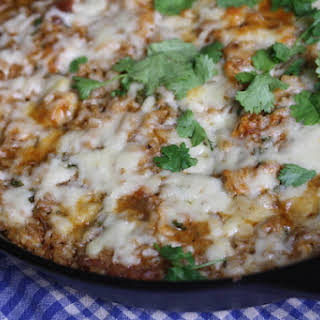 Tex-Mex Chicken and Rice Casserole with Chorizo.
