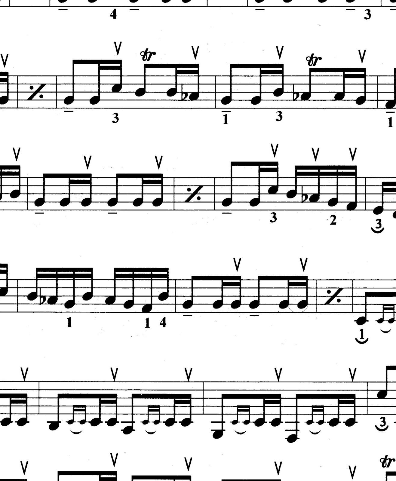 نت و آهنگ ضربی حسینی دستگاه شور مایهی سل هشت آهنگ برای سنتور فرامرز پایور