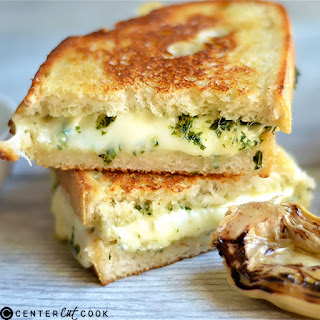 Pesto and Artichoke Grilled Cheese.