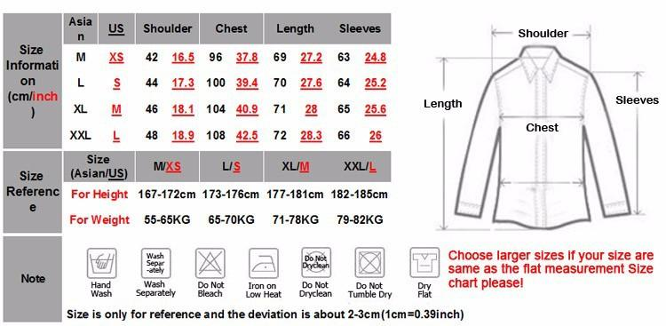 Image result for mens dress size chart sleeve