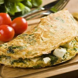 Frittata mit Spinat und Mozzarella