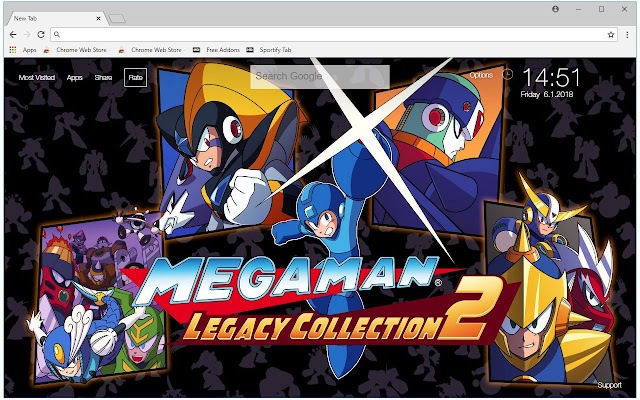 Mega Man HD Wallpaper Megaman New Tab Themes