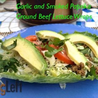 Garlic and Smoked Paprika Ground Beef Lettuce Wraps.