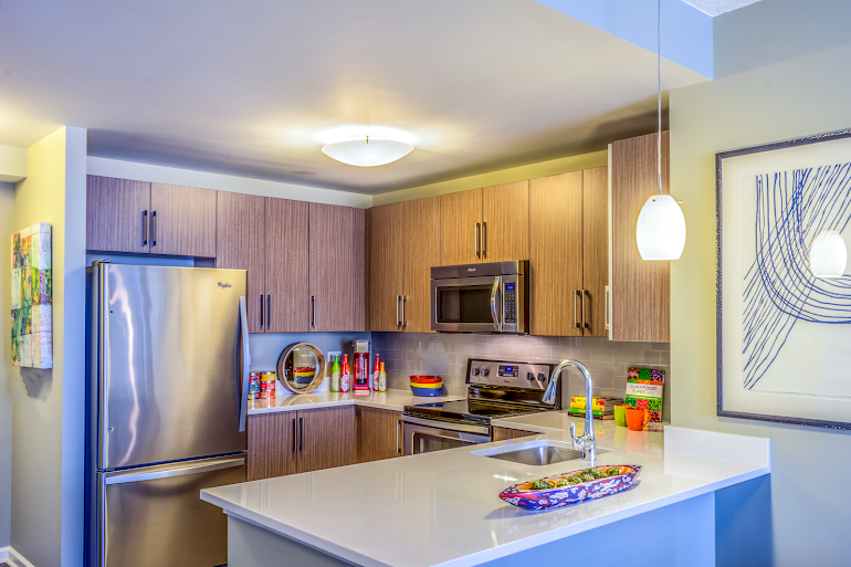 Fully equipped kitchen at M2 Apartments