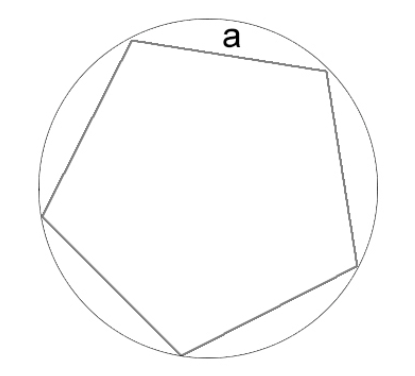 Sisi poligon termasuk dalam lingkaran