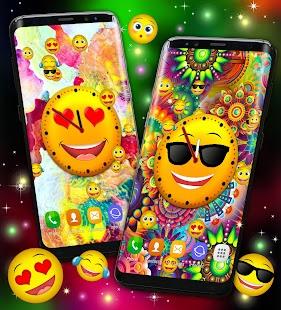 Emoji Clock Live Wallpaper Free - náhled