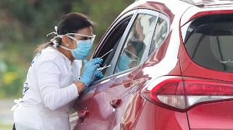 Las pruebas rápidas se realizan desde el automóvil.