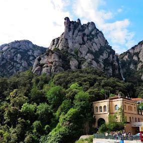 Montserrat mountain by Andjela Miljan - Nature Up Close Rock & Stone (  )