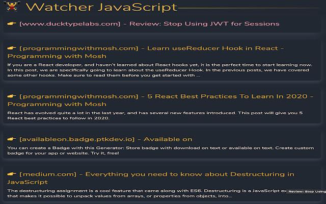 rss javascript