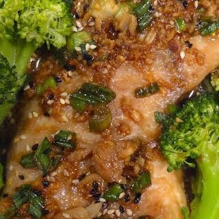 Asian-Style Rockfish in Ginger Scallion Sauce.