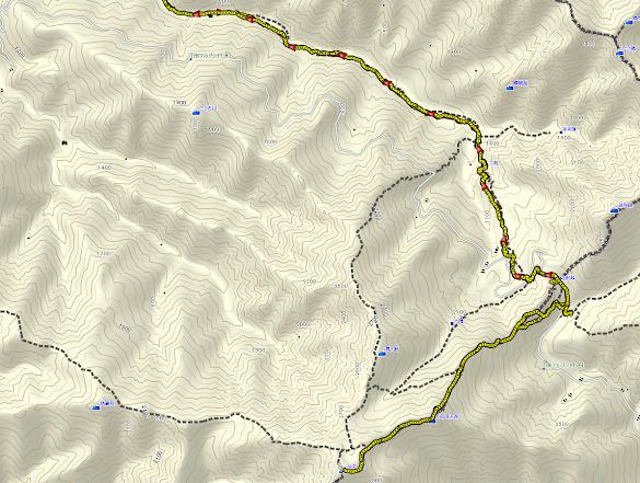 仙丈ヶ岳 登山コース地図