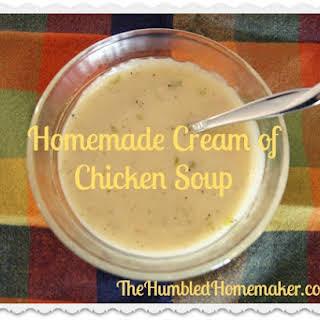 Homemade Cream of Chicken Soup.