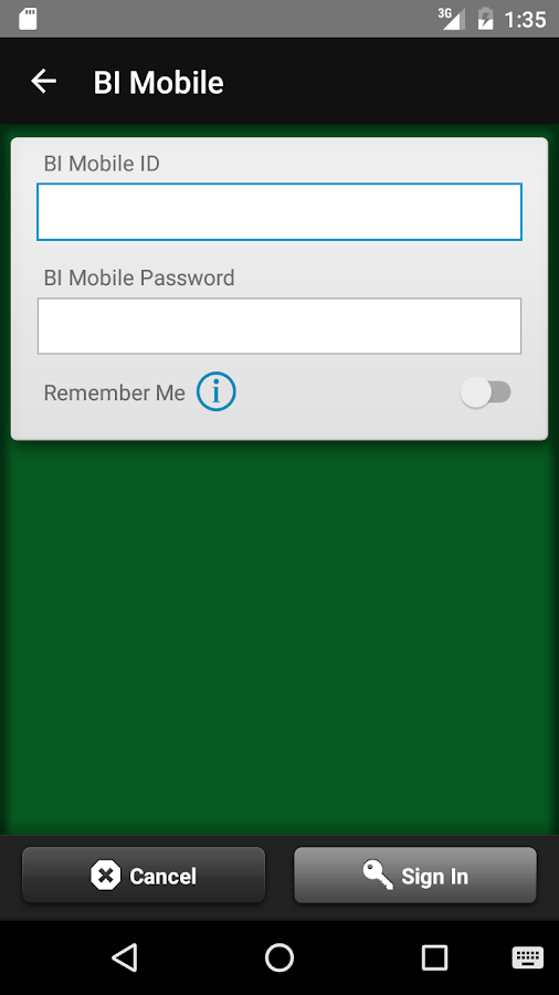 BI Mobile Banking- screenshot