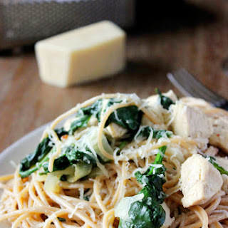 Chicken and Spinach Spaghetti with Lemon Cream Sauce