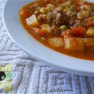 Ground Beef Vegetable Soup.