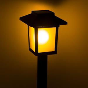 Set 5 lampi solare felinar 8x8x37 cm