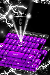 Klávesnice purpurové motivy - náhled