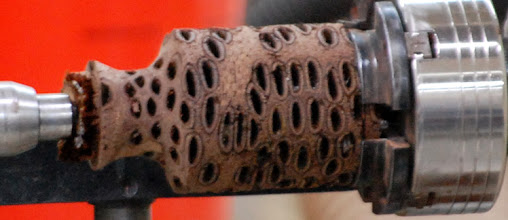 Photo: Here the neck has received its shape.