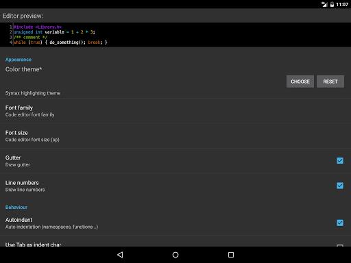 CppDroid - C/C++ IDE 3.3.3 screenshots 11