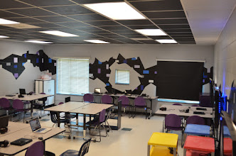 Photo: Scott Deasy has done amazing work painting and lighting the SAGA room.