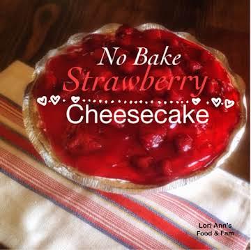 Easy No Bake Strawberry Cheesecake