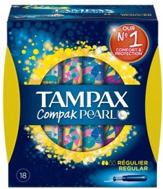 Tampax Compak Pearl Regular Applicator Tampons - 18 Pack
