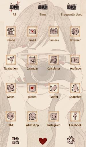 Wallpaper Camera Girl Theme 1.0.0 Windows u7528 3