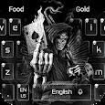 Dark Flame Devil skull gun Theme Keyboard apk