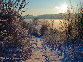 Photo: A clear and cold December day in Hyggen