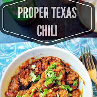 Proper Texas Chili.