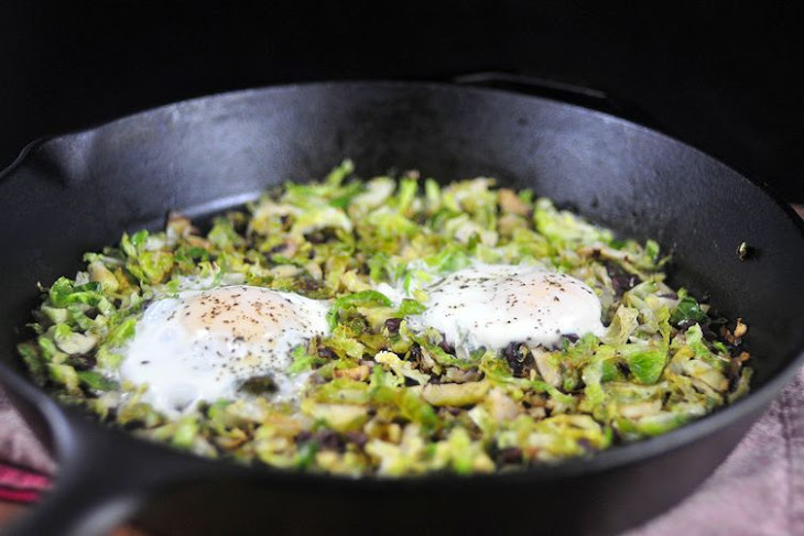 Brussels Sprouts Hash and Eggs Recipe | Yummly