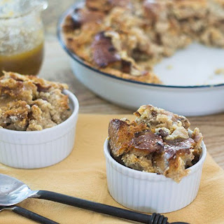 Cinnamon Raisin BAGEL Bread Pudding.