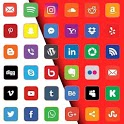 All social media and social networks in one app icon